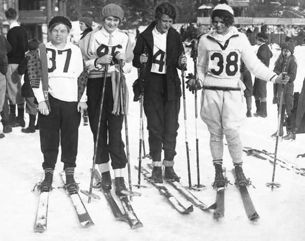 Wall Art - Photograph - Lake Placid Ski Race Winners by Underwood Archives