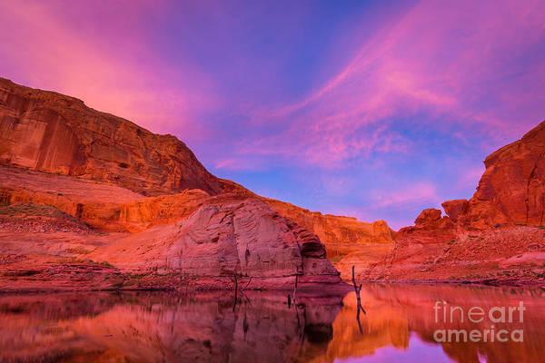 Colorado Sunrise Photograph - Lake Powell Dawn by Inge Johnsson