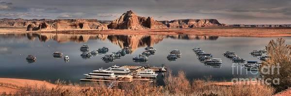 Houseboat Photograph - Lake Powell Panorama by Adam Jewell