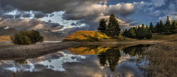 Ohau Wall Art - Photograph - Lake Pukaki Dawn Over Ben Ohau Range by Colin Monteath