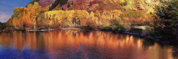 Photograph - Lake Reflection In Fall 2 by OLena Art - Lena Owens