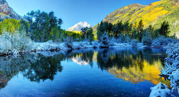 Photograph - Lake Reflection by OLena Art - Lena Owens