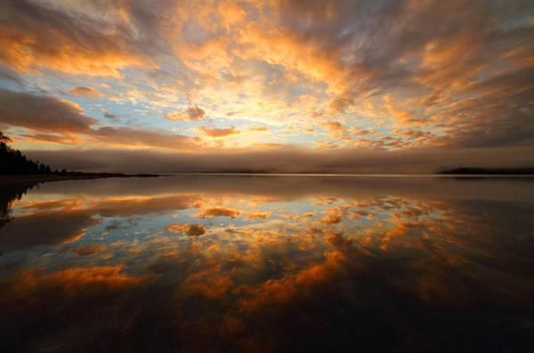 Cabot Trail Photograph - Lake Reflection Sunrise On The Cabot Trail by Jetson Nguyen