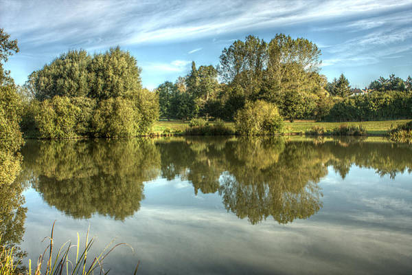 Photograph - Lake Reflections In Colour by Jeremy Hayden