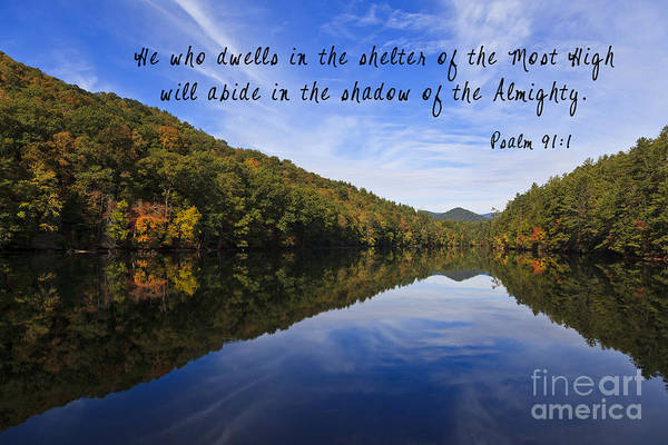 Photograph - Lake Reflections With Scripture by Jill Lang