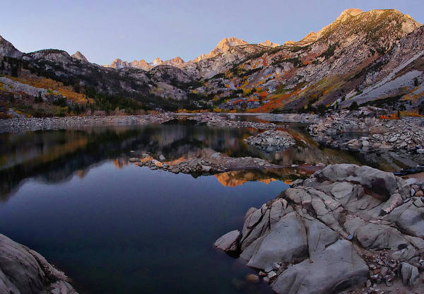 Inyo Mountains Photograph - Lake Sabrina Fall Colors At Sunrise by Scott McGuire