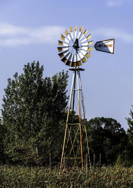 Photograph - Lake Shore Windmill by Edward Peterson