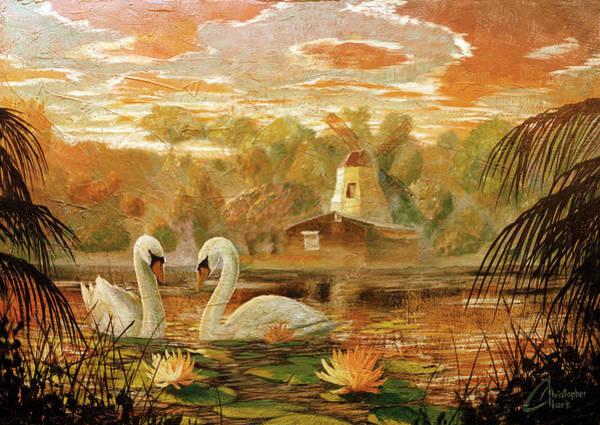 Paramhansa Yogananda Painting - Lake Shrine - Warm Colors by Christopher Clark