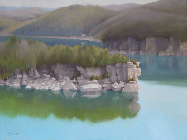West Point Painting - Lake Summersville by Todd Baxter