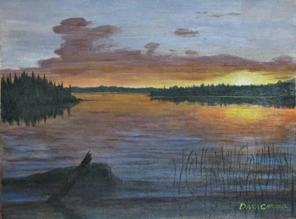 Wall Art - Painting - Lake Sunrise by Dana Carroll