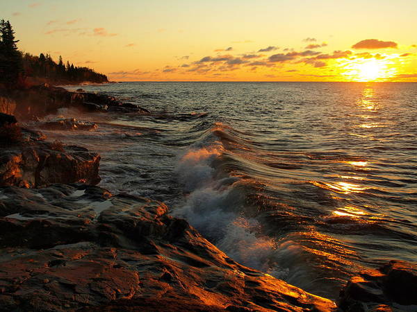 Photograph - Lake Superior Dawn by Jim Peterson