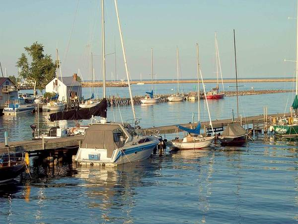 Photograph - View Of The Harbor by Mary Wolf