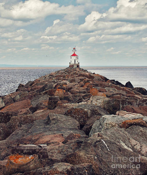 Photograph - Lake Superior Light House by Pam  Holdsworth