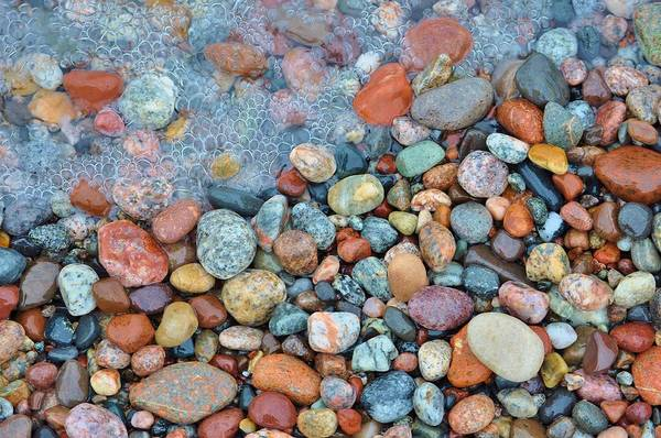 Lake Superior Wall Art - Photograph - Lake Superior Stones 3 by Kathryn Lund Johnson