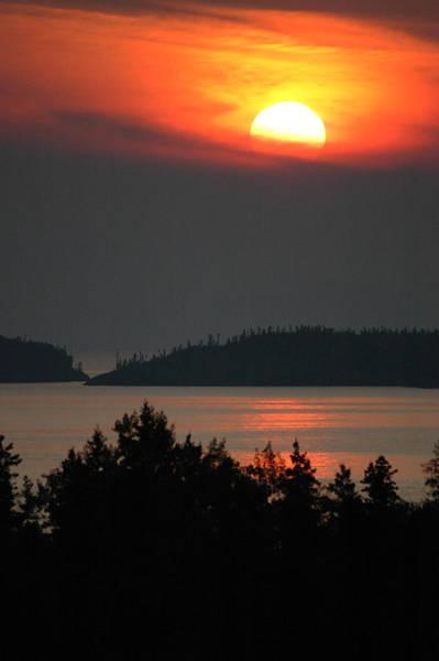 Photograph - Lake Superior Sunset 2. Pukaskwa National Park by Rob Huntley
