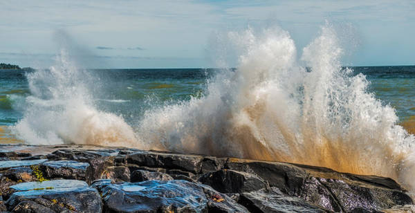Lake Superior Wall Art - Photograph - Lake Superior Waves by Paul Freidlund
