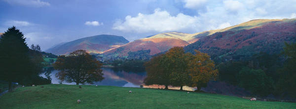 Peacefulness Photograph - Lake Surrounded By Mountains, Grasmere by Panoramic Images