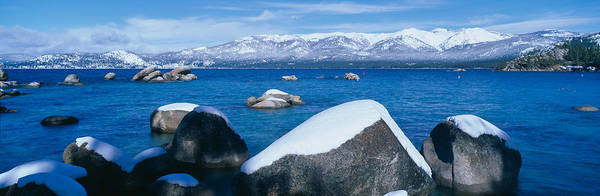 Wall Art - Photograph - Lake Tahoe In Winter, California by Panoramic Images