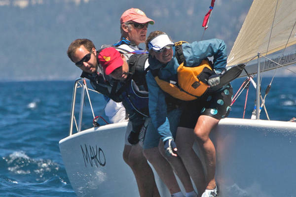 Photograph - Lake Tahoe Regatta Action by Steven Lapkin