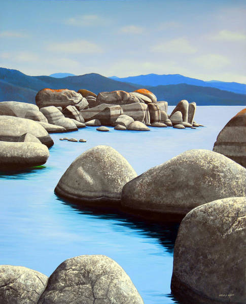 Painting - Lake Tahoe Rock Garden by Frank Wilson