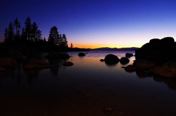Wall Art - Photograph - Lake Tahoe Sand Harbor Sunset Silhouette by Scott McGuire