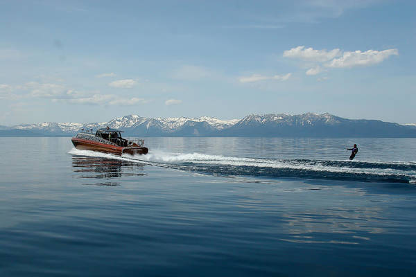 Photograph - Lake Tahoe Waterskiing by Steven Lapkin
