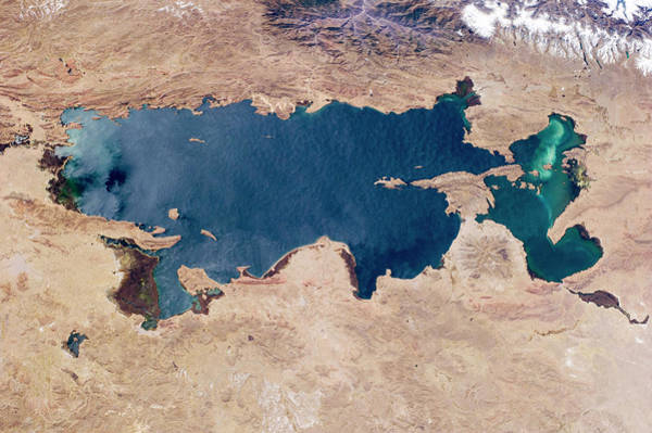 Wall Art - Photograph - Lake Titicaca From Space by Nasa