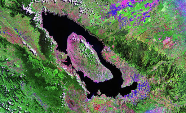 Ir Photograph - Lake Toba by Nasa/science Photo Library