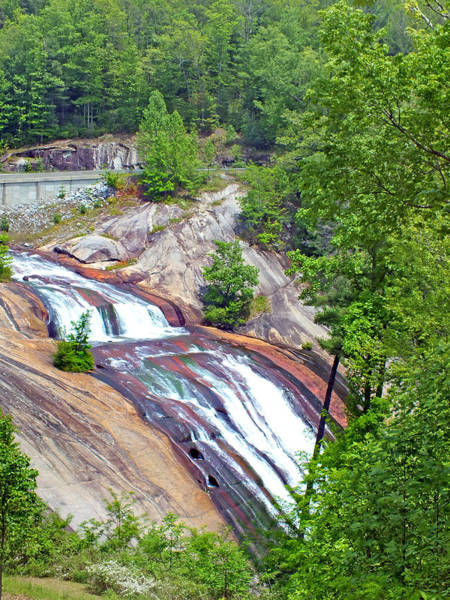 Photograph - Lake Toxaway Waterfall Spring 2013 by Duane McCullough