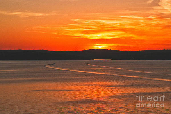 Photograph - Lake Travis At Sunset by Mae Wertz