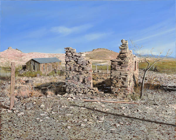 Ghost Town Wall Art - Painting - Lake Valley-new Mexico  by Guido Borelli
