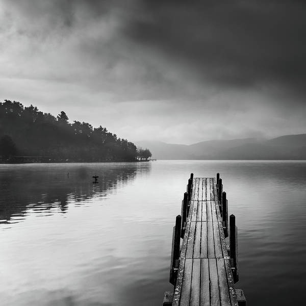 Wall Art - Photograph - Lake View With Pier II by George Digalakis