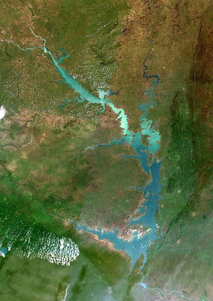 Ghana Wall Art - Photograph - Lake Volta by Planetobserver/science Photo Library