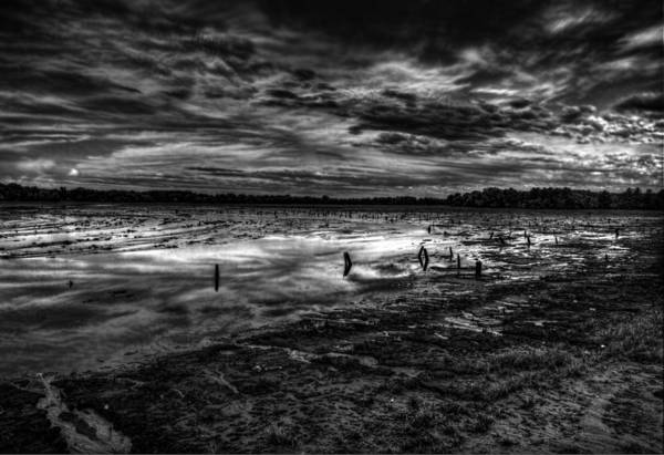Wall Art - Photograph - Lake Weyauwega Black And White 1 by Thomas Young