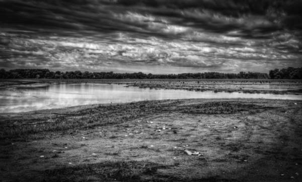 Wall Art - Photograph - Lake Weyauwega Black And White 2 by Thomas Young