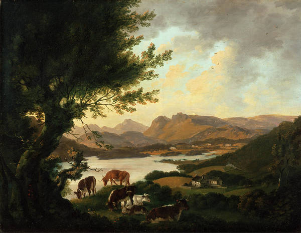 Windermere Painting - Lake Windermere, Julius Caesar Ibbetson, 1759-1817 by Litz Collection