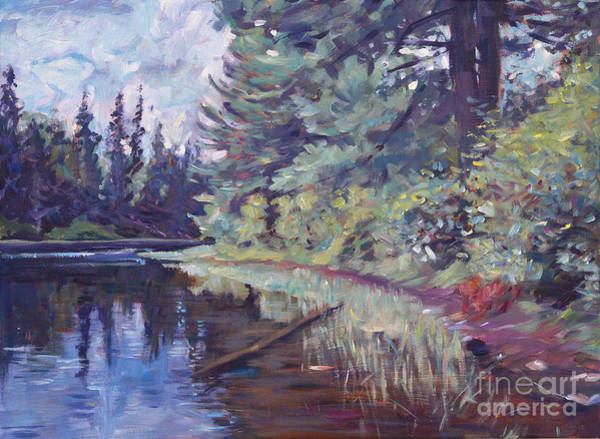 Painting - Lakes Edge  by David Lloyd Glover