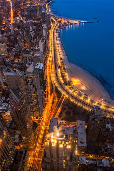 Lakeshore Drive Aloft Art Print