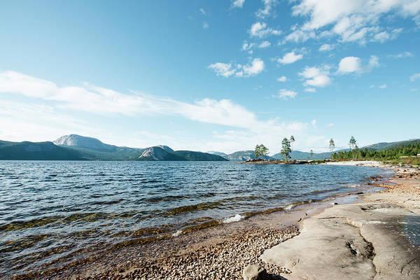 Lakeshore Photograph - Lakeshore In Norway by Hannah Bichay
