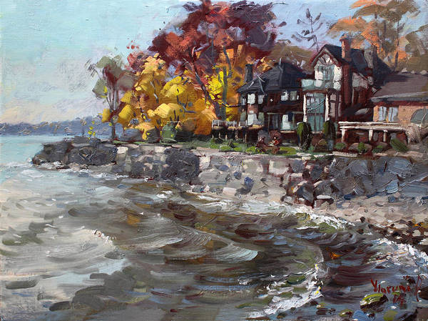 Lake House Painting - Lakeshore Mississauga by Ylli Haruni
