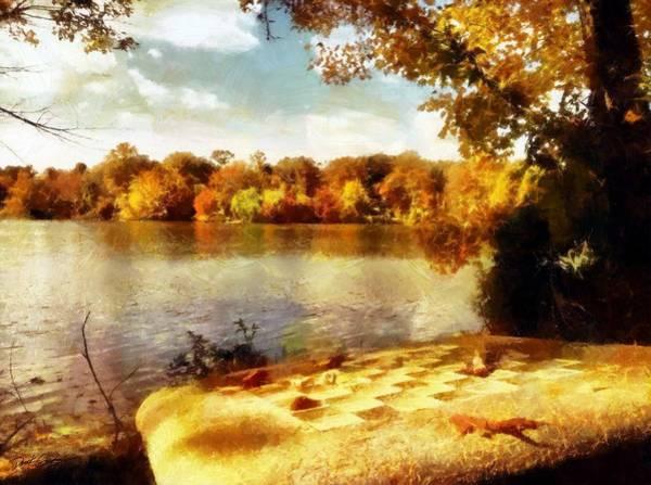Painting - Lakeside Chess by Derek Gedney