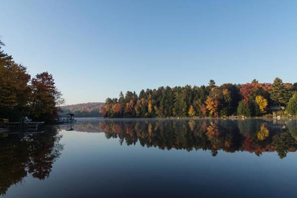 Lakeside Cottage Living - Peaceful Morning Mirror Art Print