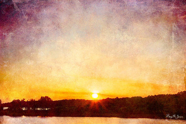 Photograph - Sunset - Lakeside Silhouettes  by Barry Jones