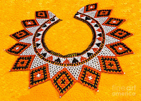 Photograph - Lakota Souix Dance Collar by Bob and Nadine Johnston