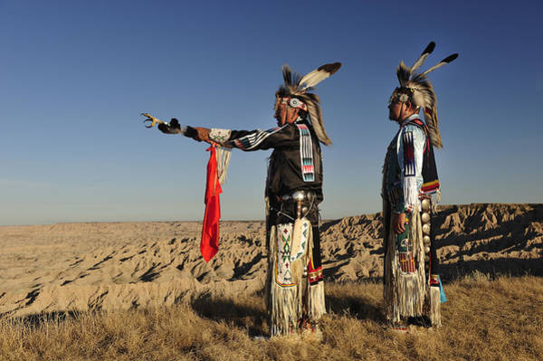 North Dakota Badlands Wall Art - Photograph - Lakotas In The Badlands by Christian Heeb