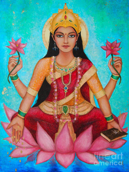 Hindu Goddess Wall Art - Digital Art - Lakshmi by Dori Hartley