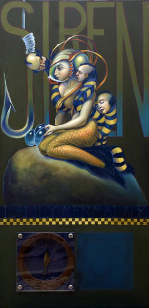 Siren Wall Art - Painting - Lalilly Mermalade Wip by Patrick Anthony Pierson