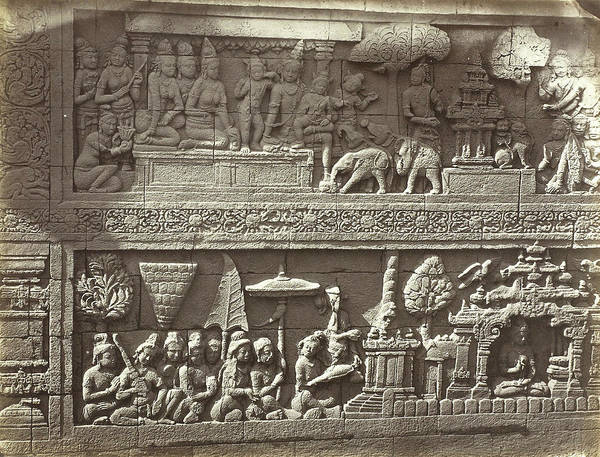 Pregnancy Drawing - Lalitavistara Relief On The Main Wall Of The Second Gallery by Artokoloro