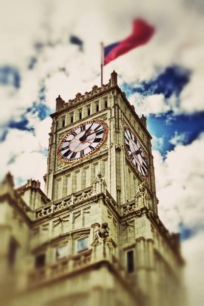 Photograph - Lamar Life Clock Tower by Jim Albritton