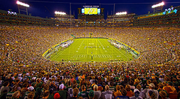 Fan Photograph - Lambeau Field by Phil Koch